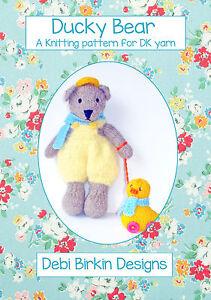 Ducky Bear TOY KNITTING PATTERN teddy duck