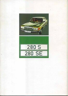 Mercedes Benz S-Class 280 S SE W116 1972-73 Original UK Sales Brochure WZ 1478