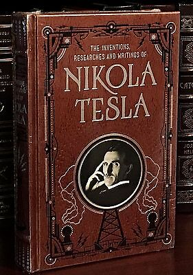 NIKOLA TESLA- INVENTIONS, RESEARCHES & WRITINGS Leather & NEW