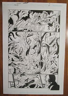 Mark Bagley ORIGINAL POWER GIRL FLASH GREEN ARROW Justice League Action batman 1