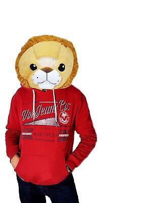 NEW Wild & Soft Lion Plush Animal Head Mascot Costume Kids Party - Lion Mascot Head
