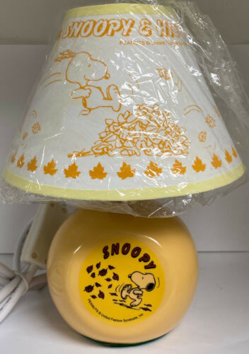 SNOOPY CERAMIC BASE LAMP with SHADE