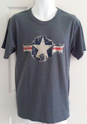 Medium shirt US Air Corp Force Insignia Military Aircraft Star Logo Army blue Army Air Corp Blue T-shirt
