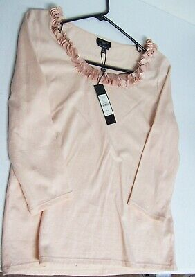 TALBOTS Peach Fancy Accents Top Shirt  NWT  Orig (Fancy Accents)