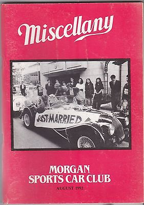 MISCELLANY MORGAN SPORTS CAR CLUB MAGAZINE AUGUST 1992 POST FREE