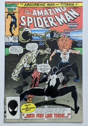 Amazing Spider-Man #283 (Dec 1986, Marvel) VF/NM 9.0 1st app Mongoose in cameo