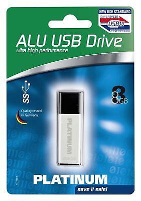 Platinum Alu 8 GB USB-Stick USB 3.0 silber 177493