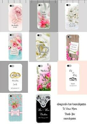 Personalised Wedding, Hen Party - Bride to be, Flowers Phone Cover Case. iP & GS