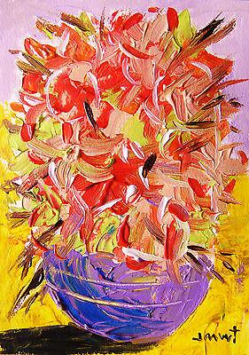 ORIGINAL Floral Flowers Painting John Williams art JMW Impressionism acrylic