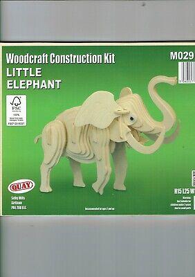 Woodcraft  Construction Kit  Childs Holz Modell 3D Puzzles Geduldspiele ELEFANT
