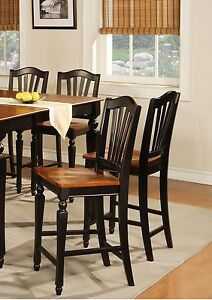 set of 4 counter height chairs 24 bar stool in black cherry saddle