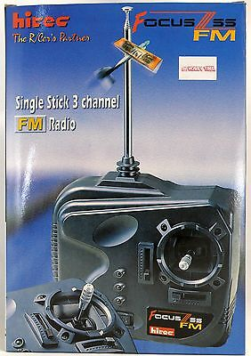 Hitec Focus 3ss Fm Single Stick 3 Channel Radio - Channel 52 - 72.830mhz