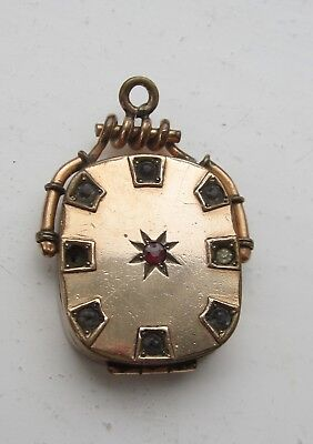 Victorian/ Edwardian antique pendant locket rose gold plated