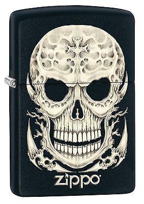 """Zippo """"Surreal Skull"""" Lighter, Black Matte Finish, 2527"""