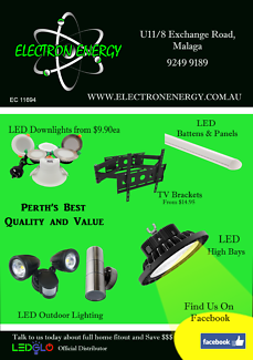LED Downlights, Outdoor/Security, CCTV, LED Strips,TV Brackets