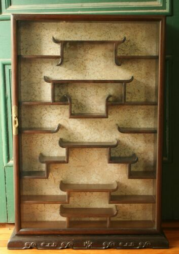 Chinese Rosewood Curio Cabinet/Display Case for Snuff Bottles, etc.