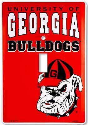 University of Georgia Bulldogs Dawgs Aluminum Novelty Single Light Switch -