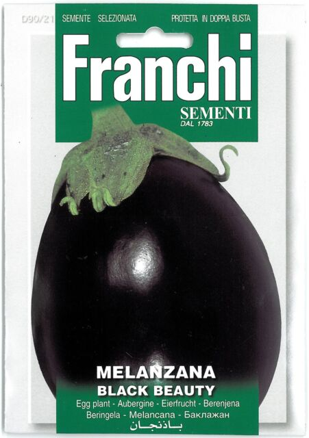 Franchi Seeds Aubergine Melanzana Black Beauty seed
