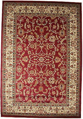 8X10 Area Rug New Persian Border Floral Kashan Claret Red Beige Traditional