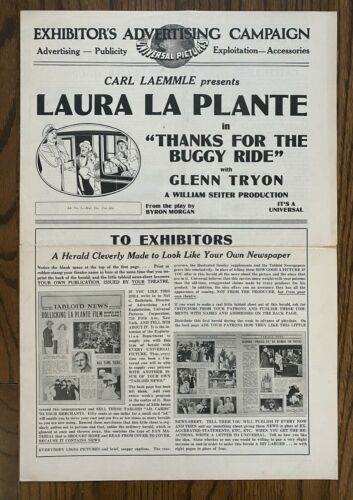*THAKS FOR THE BUGGY RIDE (1928) Laura La Plante & Glenn Tryon Silent Comedy