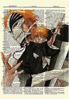 Bleach Anime Dictionary Art Print Poster Picture Japan Manga Book Ichigo