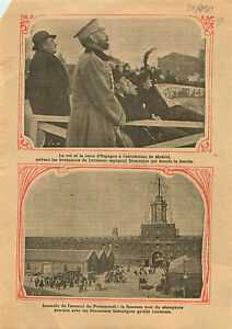 """Alfonso XIII of Spain & Victoria Airport Madrid Espana Spain 1913 ILLUSTRATION - France - Commentaires du vendeur : """"OCCASION"""" - France"""