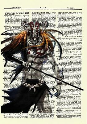 Bleach Anime Dictionary Art Print Poster Picture Japan Manga Book Ichigo