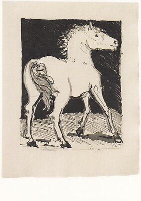Postkarte: Pferd -Zeichnung von Pablo Picasso, 1942, - The Horse