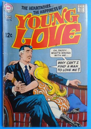 1969 DC COMICS THE HEARTACHES THE HAPPINESS of YOUNG LOVE #74 SILVER AGE HTF