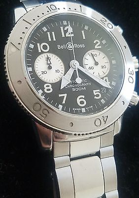 Bell & Ross DIVER BW 500S Steel 300M Chronograph Automatic Vintage Watch $3650