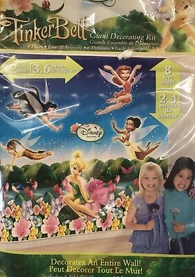 Tinker Bell Fairies Party Supplies Giant Decorating Kit 12' long x 8' High (Tinkerbell Party Decorations)