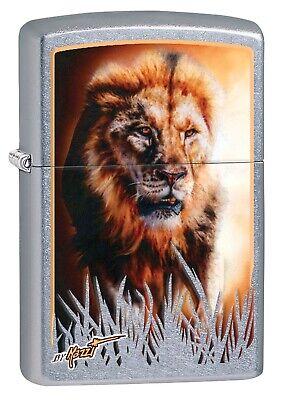 Zippo Lighter: Lion Hunting by Mazzi - Street Chrome 80364