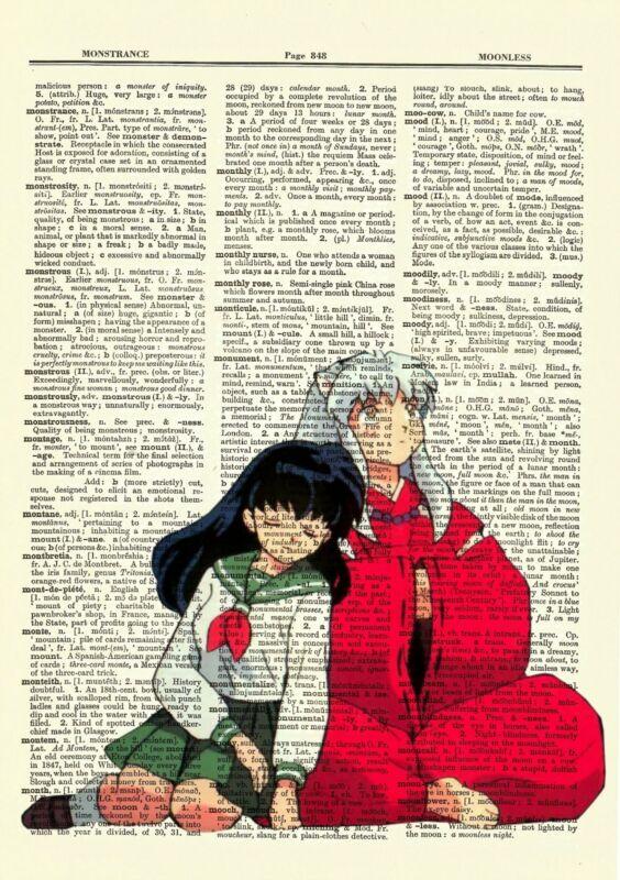 Inuyasha and Kagome Anime Dictionary Art Print Poster Picture Manga Book