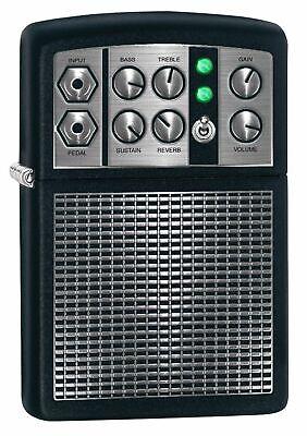 Zippo 5399, Stereo Amplifier, Black Matte Finish Lighter