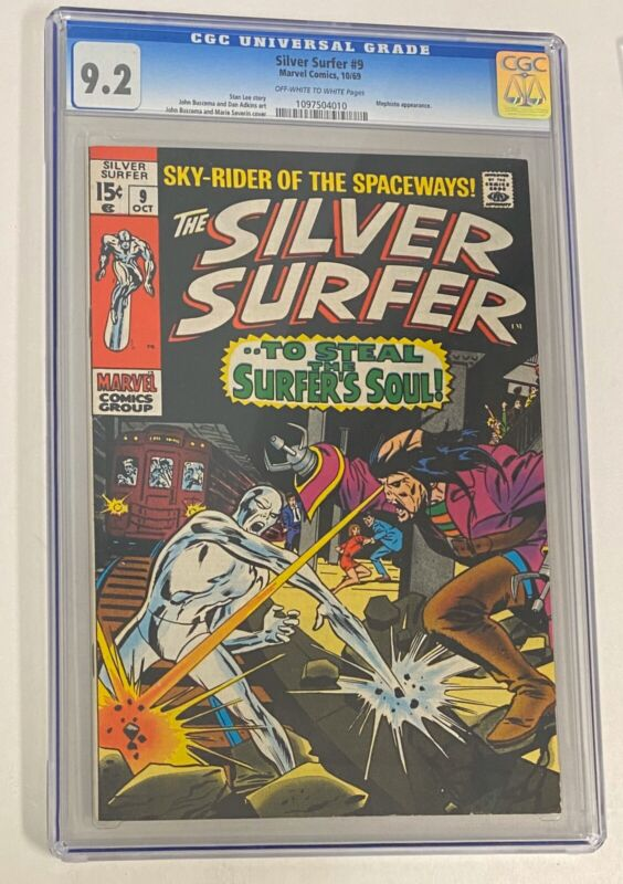 Silver Surfer #9 10/69, Marvel CGC 9.2 Mephisto Appearance