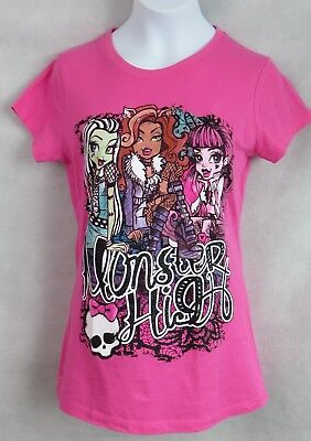 MONSTER HIGH Girls Graphic Tee Frankie Draculara Clawdeen Official Licensed - Monster High Draculara