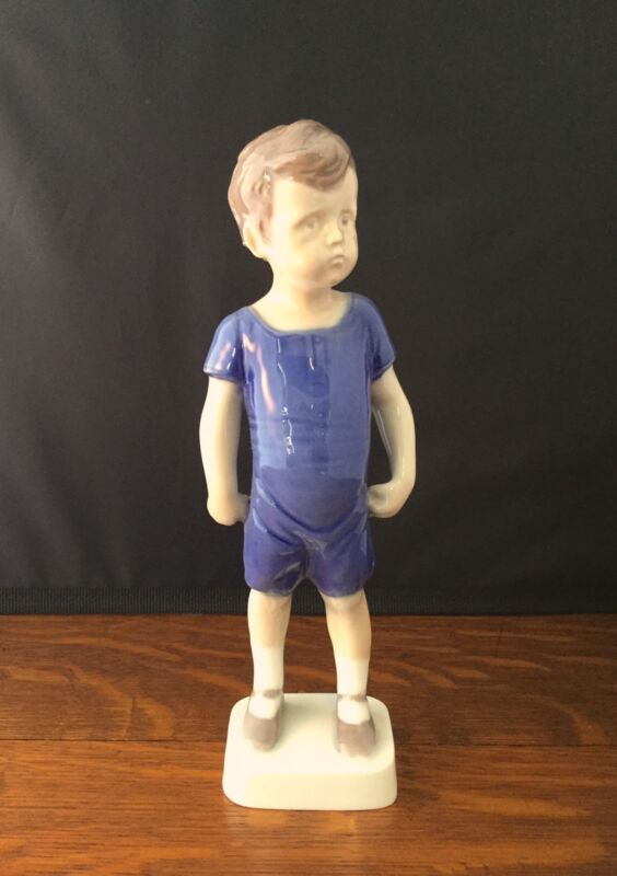 Bing and Grondahl B&G #1617 KAJ Standing Little Boy Figurine