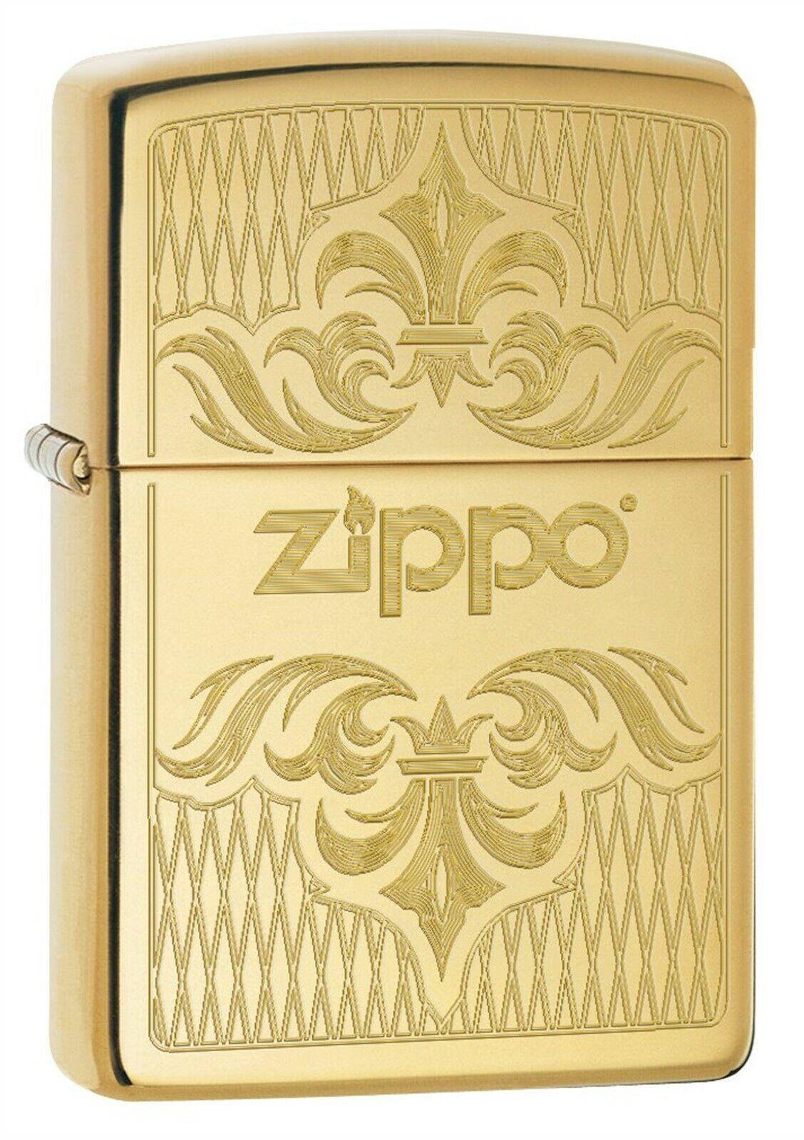 Zippo Lighter: Regal Zippo Design, Engraved - High Polish Br