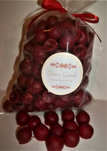 NELLIES ACRES CHERRIES.... WAX  EMBEDS..