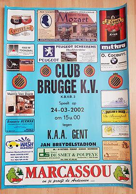 Wedstrijd Affiche match de Football Club Brugge v KAA Gent 24-03-2002