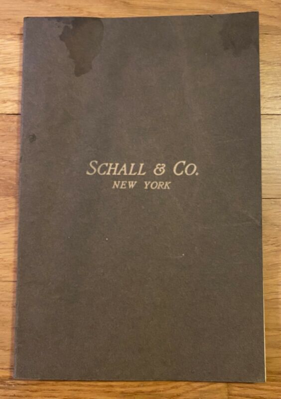 Rare 1890s Schall Confectioners Catalog Wedding Cake Toppers, Ice Cream Molds !!