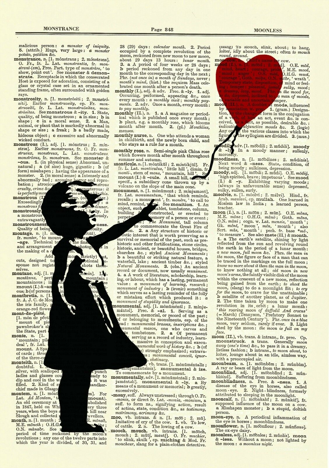 Banksy Girl With a Balloon Dictionary Art Print Picture Poster Nursery Child