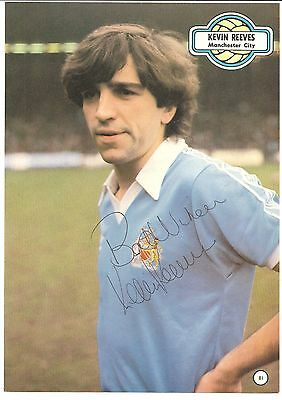 Kevin Reeves, Manchester City Man City signed autographed football book picture.