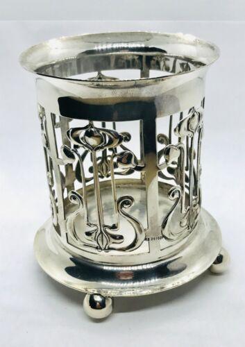 Antique Art Nouveau Silver Plated Bottle Holder by Roberts & Belk, dated 1900