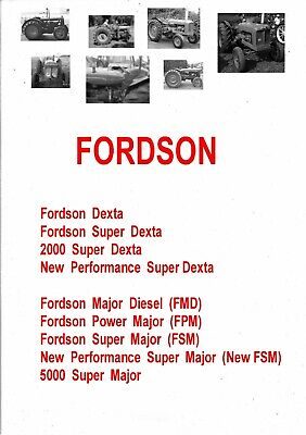 Fordson Dexta Super Dexta Tractors Shop Service Manual Spare Parts Cd