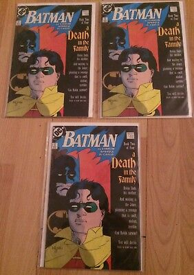Lot Of (3) Batman Comic Book #427 A Death In The Family Jim Starlin