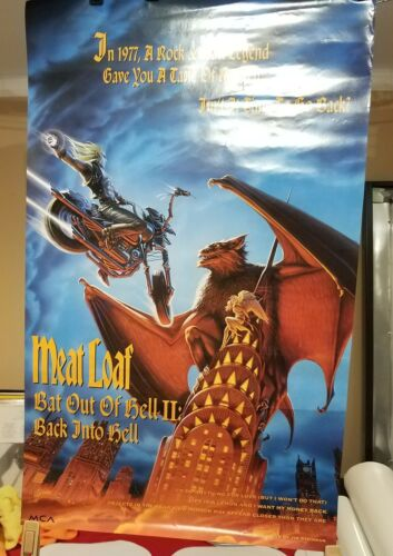 """Meatloat - Bat Out of Hell II - Original 1993 """"Promotional poster"""""""