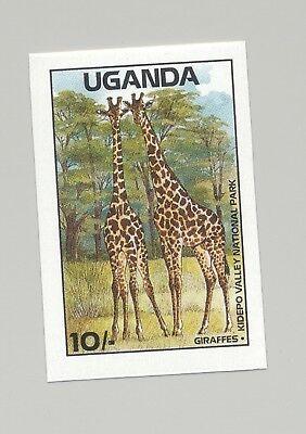 Uganda #637 Giraffes, Animals 1v Imperf Proof