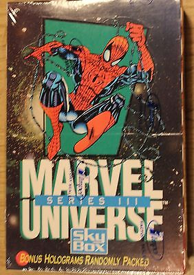 1992 MARVEL UNIVERSE SERIES III (3) FULL BOX NEW NM 12 WATCHERS ONLY 8 LEFT