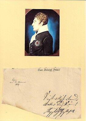 1809 KÖTHEN - Herzog Augut Christian von ANHALT-KÖTHEN - Feldmarschall